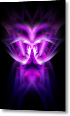 Metal Print featuring the photograph Purple Bug by Cherie Duran