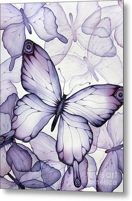 Purple Butterflies Metal Print by Christina Meeusen