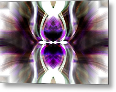 Metal Print featuring the photograph Purple Butterfly by Cherie Duran