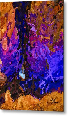 Metal Print featuring the painting Purple Cave by Joan Reese