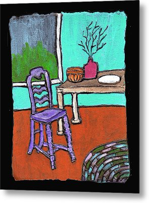 Purple Chair Metal Print
