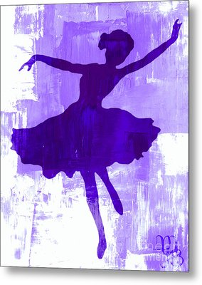 Purple Dancer Metal Print