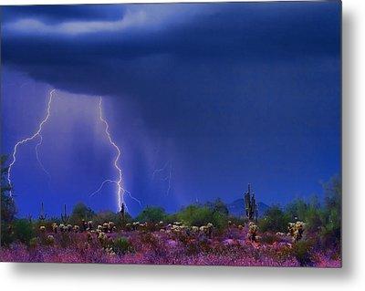 Purple Desert Storm Metal Print by James BO  Insogna
