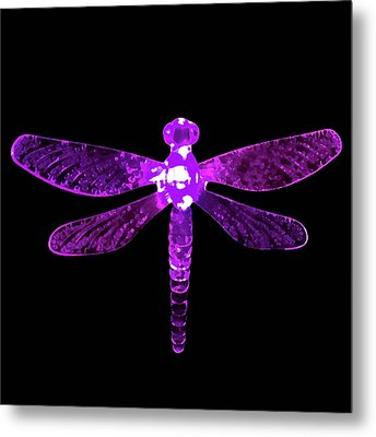 Purple Dragonfly Metal Print