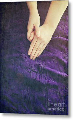 Purple Dress Metal Print by Lyn Randle