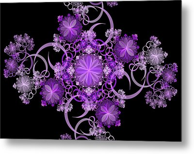 Metal Print featuring the photograph Purple Floral Celebration by Sandy Keeton