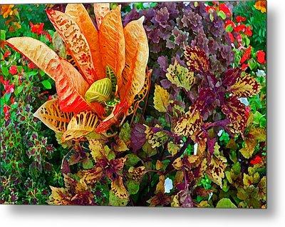 Purple Flowers Metal Print by Michael Thomas