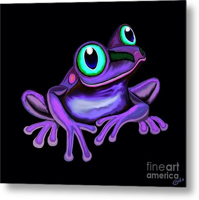 Metal Print featuring the painting Purple Frog  by Nick Gustafson