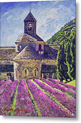 Purple Gardens Provence Metal Print by David Lloyd Glover