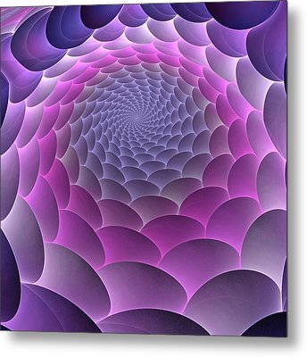 Purple Gradient Metal Print by Anastasiya Malakhova
