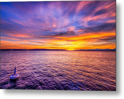 Purple Haze Sunset Metal Print