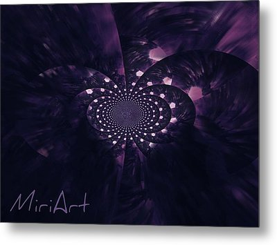 Metal Print featuring the photograph Purple Intrigue by Miriam Shaw