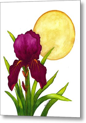 Purple Iris Metal Print by Stephanie  Jolley