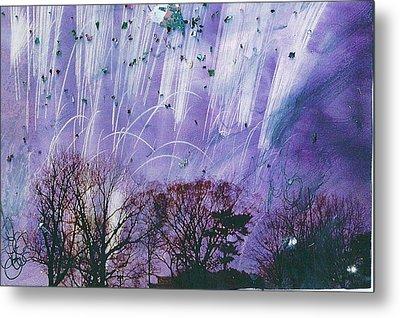 Purple Is The Color Of My True Love's Air Metal Print by Anne-Elizabeth Whiteway