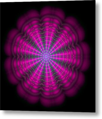 Purple Lightmandala Ripples Metal Print
