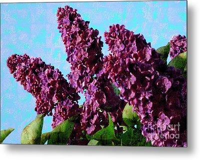 Purple Lilac 2 Metal Print by Jean Bernard Roussilhe