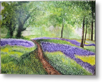 Purple Meadow Metal Print