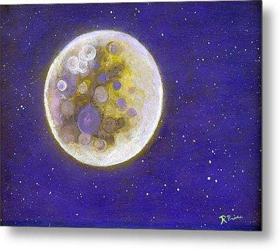 Purple Moon Metal Print by Robert Price