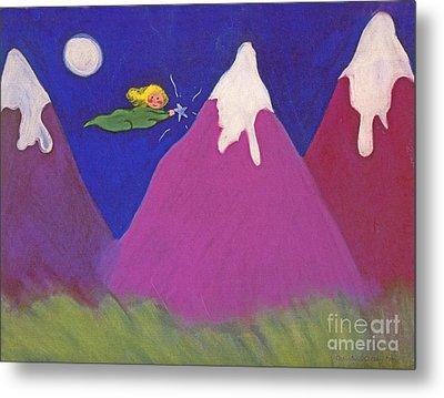 Purple Mountains Majesty Metal Print by Christine Crosby
