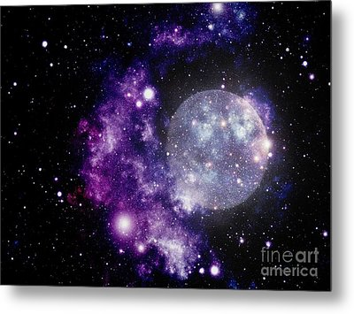 Purple Nebula Metal Print