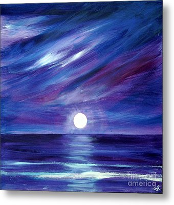 Purple Night Metal Print