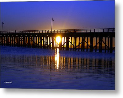 Purple Ocean Sunrise Metal Print