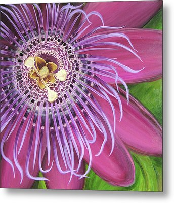 Purple Passionflower Metal Print by Clary Sage Moon