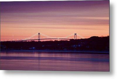 Purple Pell Bridge Panorama Metal Print