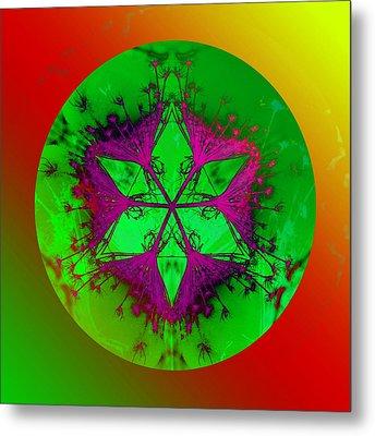Purple Pentagram Metal Print by Brigita Tekavcic