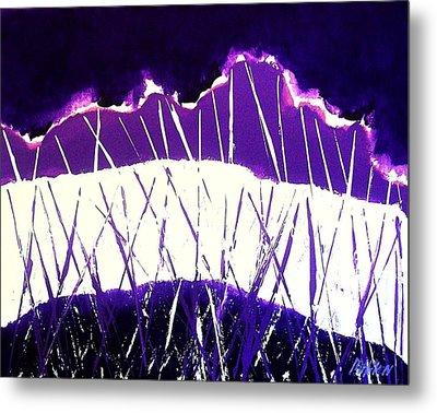 Purple Rain Abstract Metal Print by Marsha Heiken