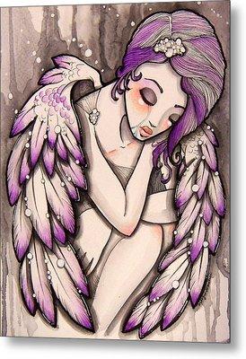 Purple Rain Metal Print by Margie Forestier