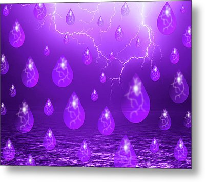 Metal Print featuring the photograph Purple Rain by Shane Bechler