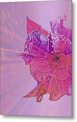 Purple Rays Of Happiness Metal Print