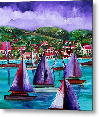 Purple Skies Over St. John Metal Print by Patti Schermerhorn
