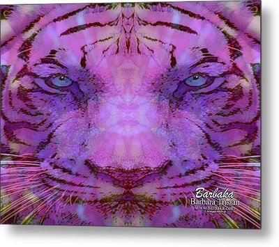 Metal Print featuring the photograph Purple Tiger by Barbara Tristan