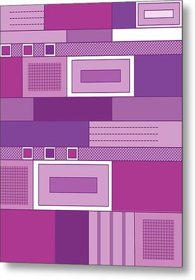 Purple Time Metal Print