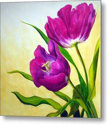 Purple Tulips Metal Print by Scott Gordon