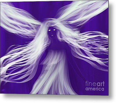 Purple Woods Faerie Metal Print