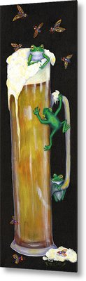 Pursuit Of Hoppiness Metal Print by Debbie McCulley