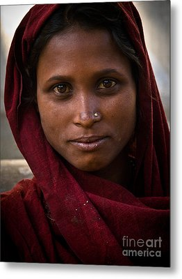 pushkar girl I Metal Print