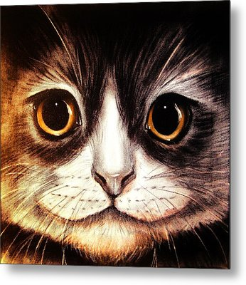 Pussycat Metal Print by Anastasis  Anastasi