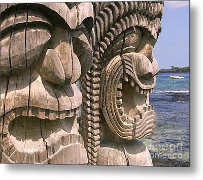 Puuhonua O Honaunau Metal Print by Ron Dahlquist - Printscapes