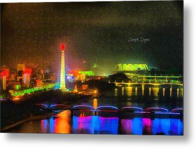 Pyongyang Night Scene - Da Metal Print by Leonardo Digenio