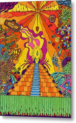Pyramid Metal Print by Evan Purcell