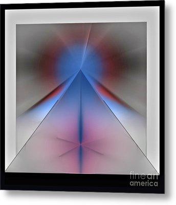 Metal Print featuring the digital art Pyramid by John Krakora