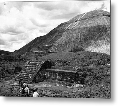 Pyramid Of The Sun, In The Pre-aztec Metal Print by Everett