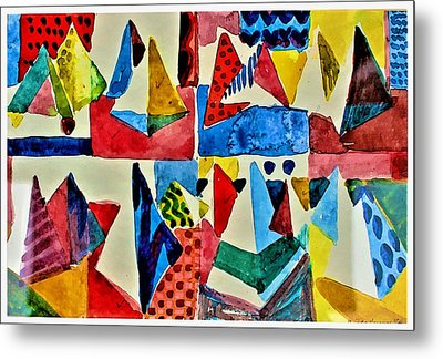 Metal Print featuring the digital art Pyramid Play by Mindy Newman