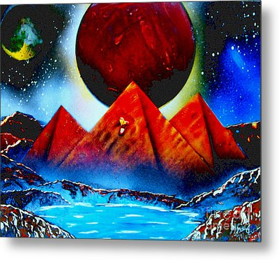 Pyramids 4663 E Metal Print by Greg Moores