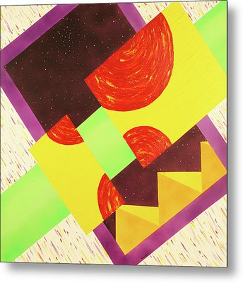 Metal Print featuring the painting Pyramids And Pepperoni by Thomas Blood