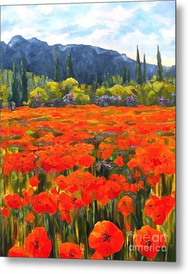 Pyrenees Poppies Metal Print